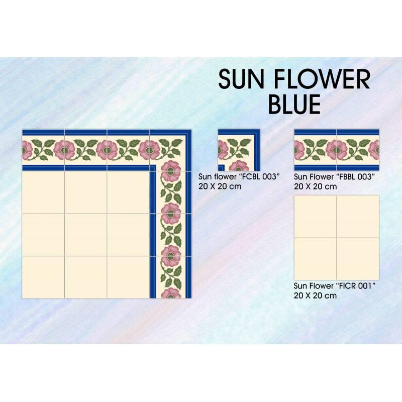 Sun Flower. Blue