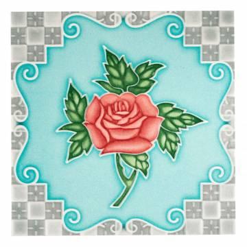 Four Rose Blue (100 x 100 mm)