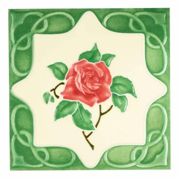 Red Rose Green (100 x 100 mm)