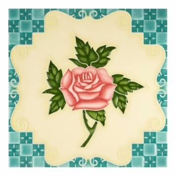 Six Rose Blue (100 x 100 mm)